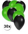 Party ballonnen zwart en groen