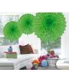 Decoratie waaier lime groen 45 cm