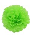 Lime groene pompom versiering 35 cm